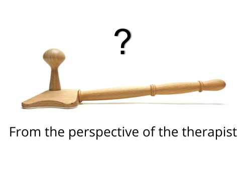 Backrelease trigger point tool from the perspective of the therapist