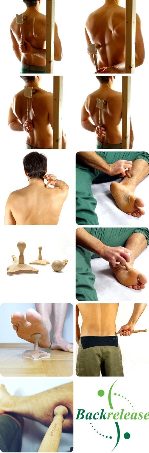 Multifunctional trigger point massage tool for back